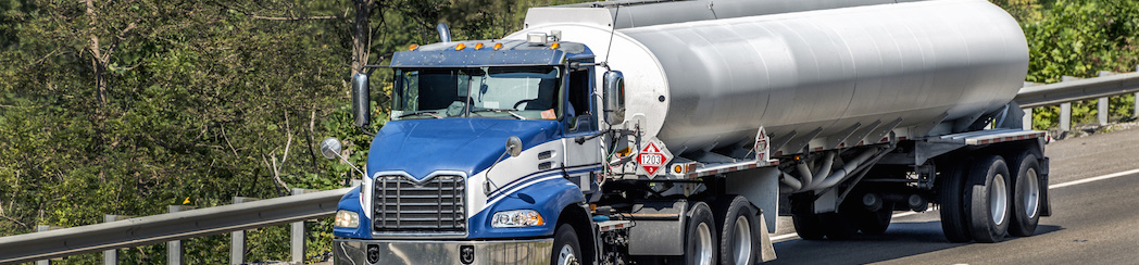 Gasoline Tanker Truck On The Interstate Highway